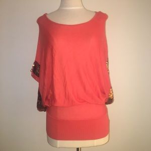NWT Bebe Knit Sweater Blouse